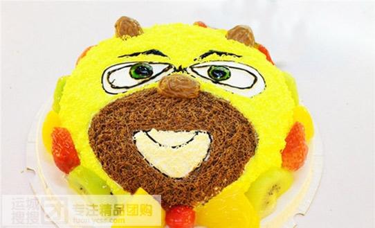 卡通熊二蛋糕!